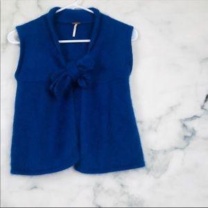 Free People Blue Angora Vest